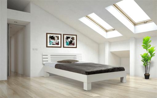 Houten bed wit