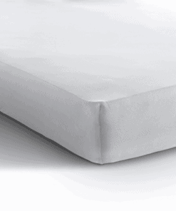 Jersey hoeslaken matras - wit